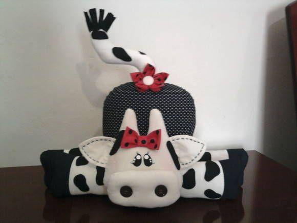 Peso de Porta de vaca, confeccionado em tecido 100% algodão e algodão cru. Cor à escolha do cliente. R$ 35,00