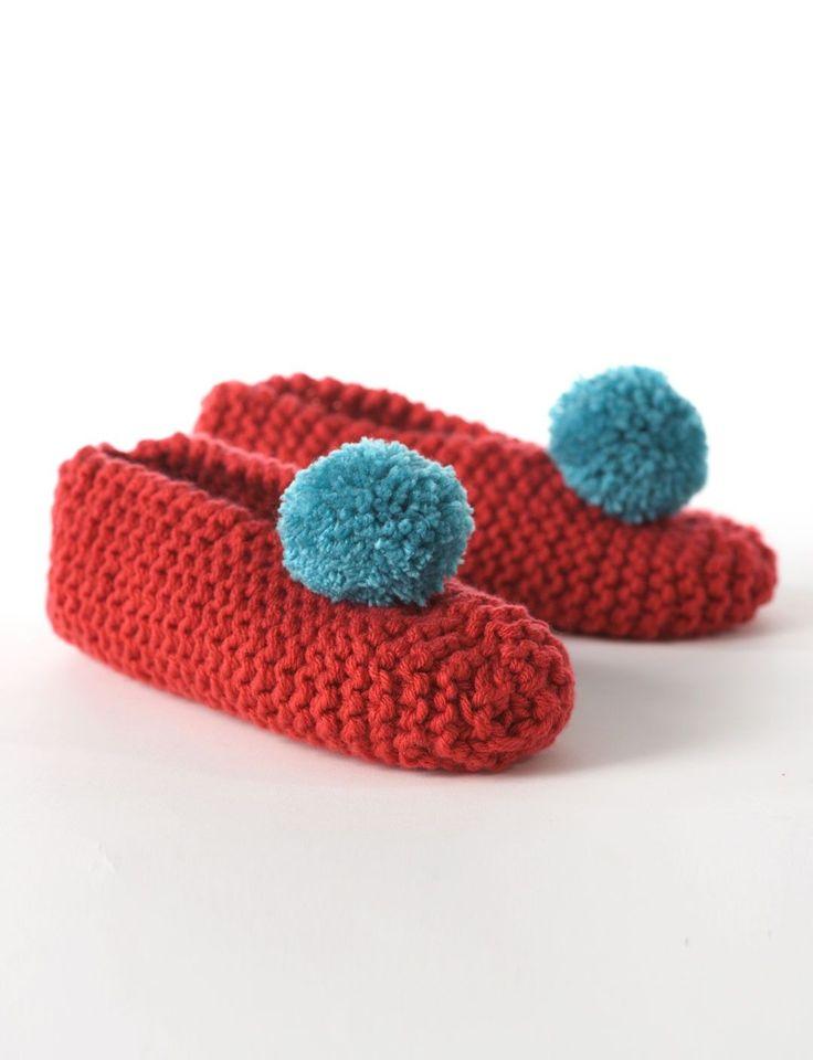 Knitting Slippers For Charity : Yarnspirations bernat men s lady slippers