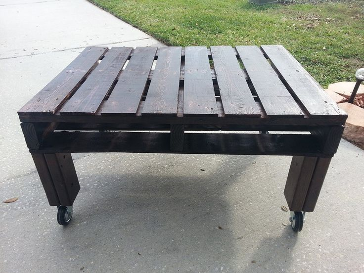 Pallet Coffee Table with magazine slots $250