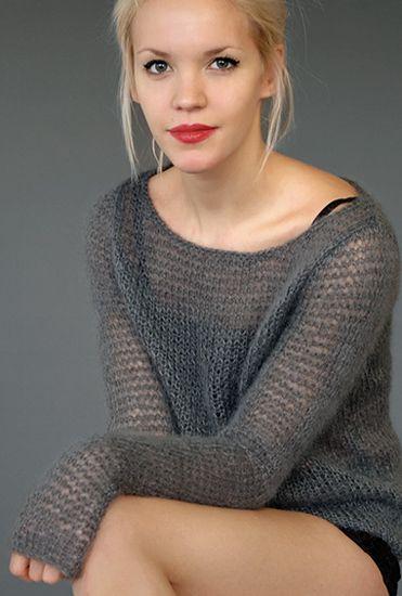 SMOULDER Understated boxy sweater / Whisper book