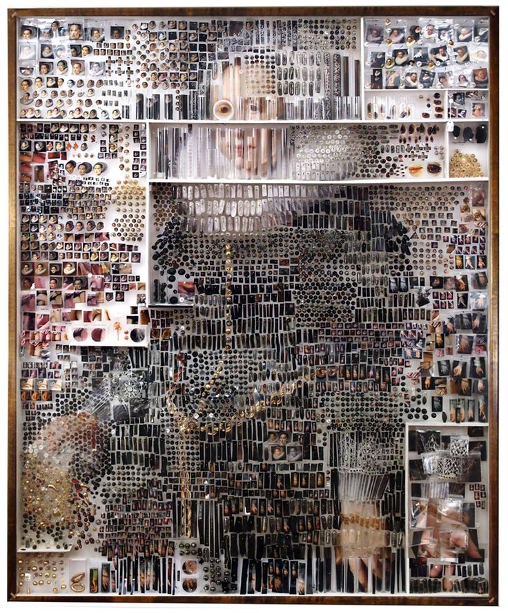 Hundreds of small specimens are assembled to make up these Dutch portraits by Michael Mapes.