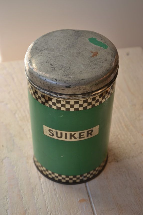 Vintage suikerblik van lovefromadam op Etsy, €12.00