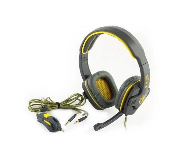AM MOGOI(TM) Stereo 7.1 Surround Pro USB Gaming USB Gaming Headset Headphone Earset Earphone with Mic Headband Headphone,Yellow Black With MOGOI Accessory: Amazon.ca: Electronics