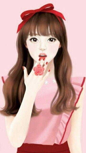 Anime Girl Studying Wallpaper Jennie Enakei Enekei Cute Art Girl Cartoon Art