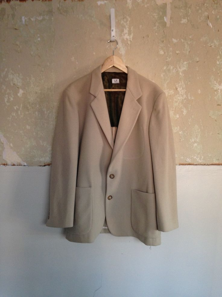 VINTAGE C.P. COMPANY GHOST POCKET WOOL BLAZER JACKET. MADE IN ITALY