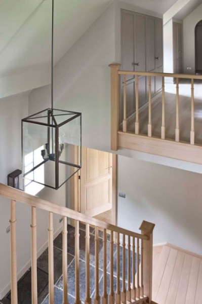 Suspension in stair case. I like it!