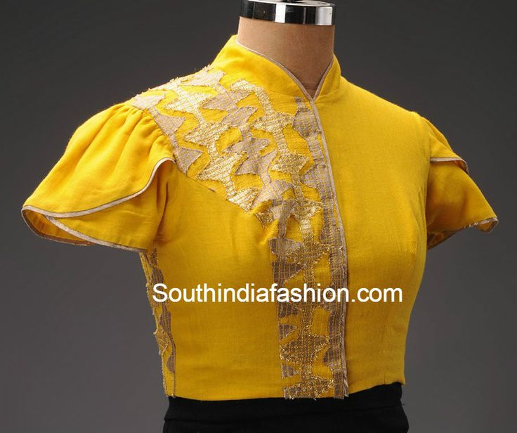 collar_neck_blouse_with_puff_sleeves.jpg (906×759)