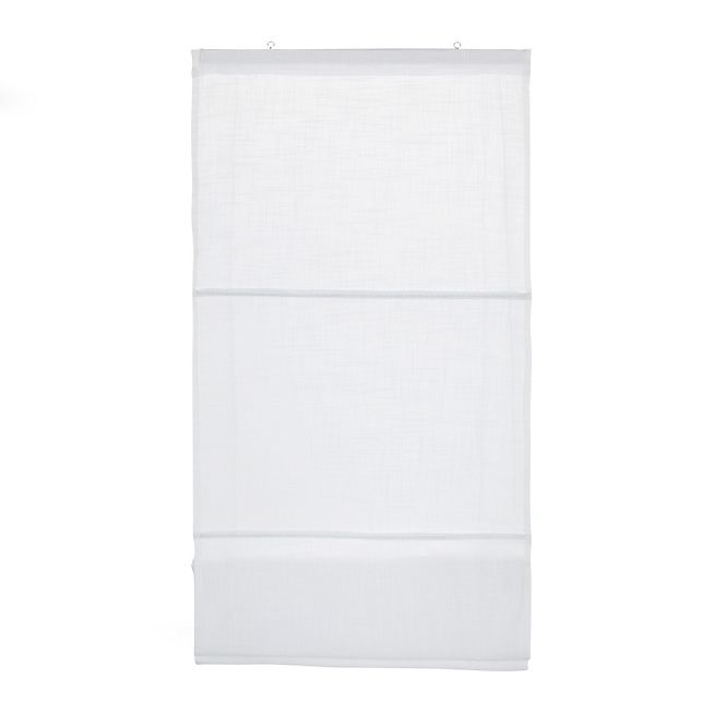 Lina II Store en coton 45x170cm blanc