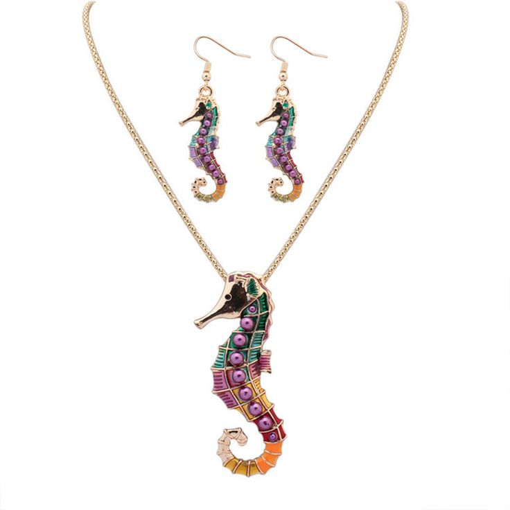 Find More Jewelry Sets Information about SNASAN Enamel sea horse animail Jewelry Set silver statement Necklace Earings eardrop Set For Women Gothic style,High Quality jewelry set silver,China set for women Suppliers, Cheap style set from SNASAN Retail Store on Aliexpress.com