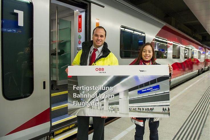 Die Trasse vom neuen Wiener Hauptbahnhof zum Flughafen Wien ist eröffnet