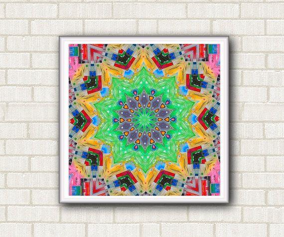 Geometric and colorful drawing printable with di DreamingMandalas