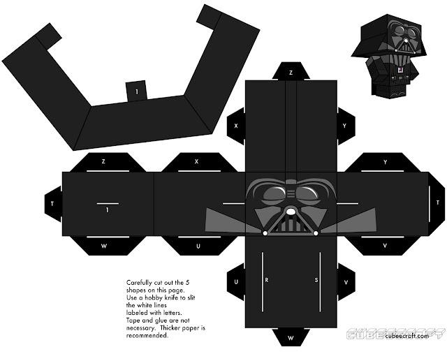 Star Wars Darth Vader PaperCraft CubeCraft - Enjoy!