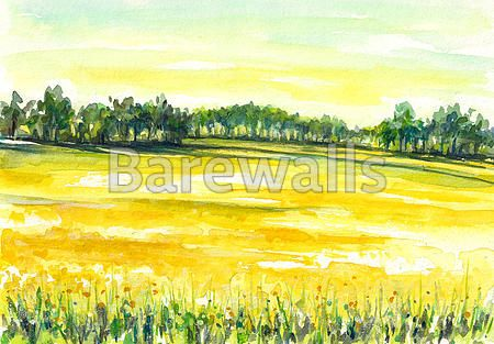 """""""Field"""" - Illustrated nature posters and prints available at Barewalls.com"""