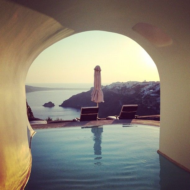 The incredible view of Oia from the private pool of the Perivolas Suite. (from Instagram @Linda Drew)
