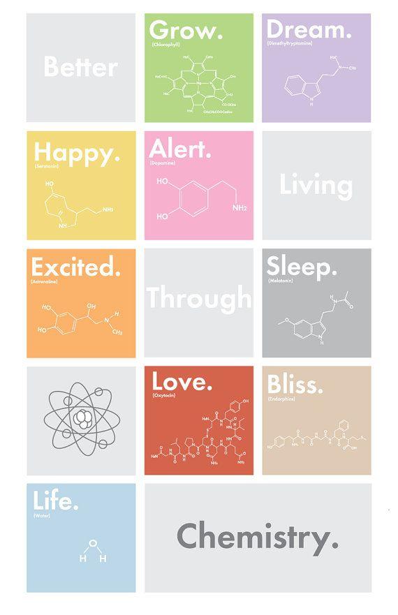 Mieux vivre grâce à la chimie  11 x 17 par ArtworkbyRyanGardell