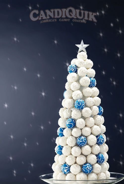 Cake Pop Christmas Tree~ this is cool. You could use this recipe or one of your own cake pop recipes and change up the colors too like mostly green with a few red ones.