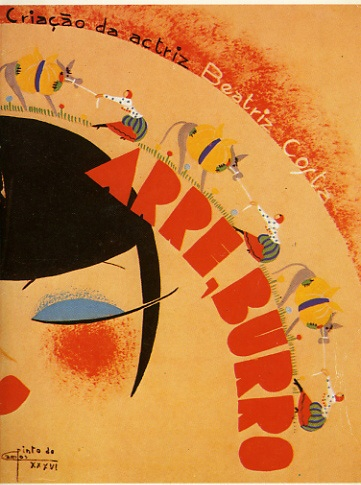 "Pinto de Campos, ""Arre, Burro"" poster, 1936"
