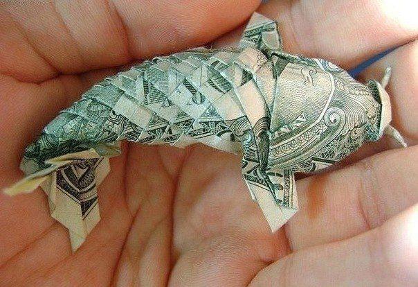 $$ fish origami