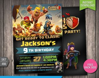 clash clans birthday on Etsy, a global handmade and vintage ...