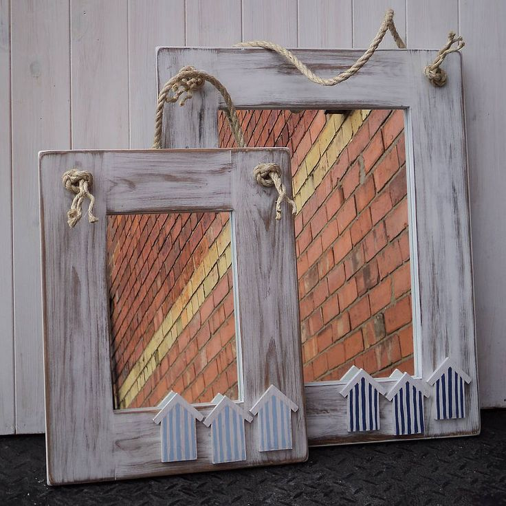 beach bathroom mirror hut mirror with rope by giddy kipper 12013