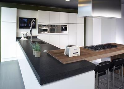 25 beste idee n over houten keuken werkbladen op pinterest - Traditionele keukens ...