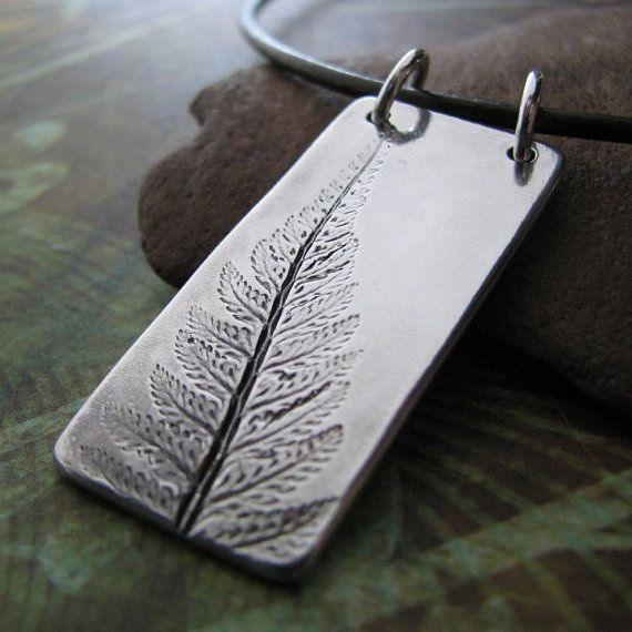 Graceful  Handmade PMC Fine Silver Pendant by SilverWishes on Etsy