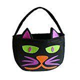 #3: ノーブランド品  2個 黒猫 不織布 バッグ ハロウィーンパーティートに最適