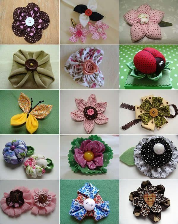 flores varias con tela
