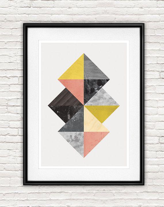 Abstrait art mural, design nordique, geomteric art impression, abstract, publicité scandinaves poseur, imprimé géométrique abstraite, au milieu du siècle moderne,