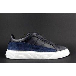 Hogan - Sneakers H365 Slip-on Uomo Pelle Camoscio Blu Avion H Stitching  Prezzo 270 a4c9aa50a20