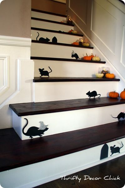 i'm sure if i put these little gourds on my stairs, i may gave real mice too, livin' on an open field tends to bring a few visitors