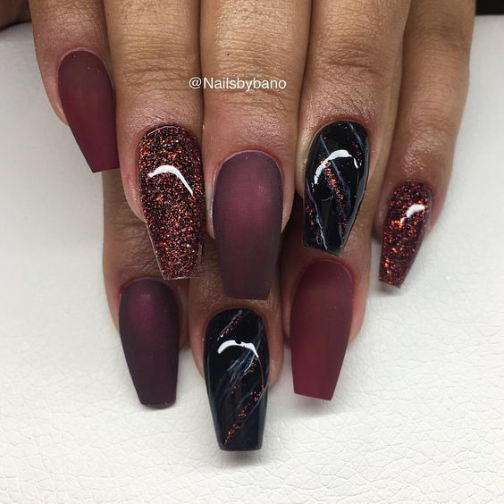 1 587 likes 17 comments bano betweni nailsbybano on instagram fria h nder black cherry. Black Bedroom Furniture Sets. Home Design Ideas