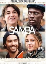 Samba d'Eric Toledano. Comédie sentimentale légère même si elle aborde un sujet assez délicat: les sans-papiers. Comedy.