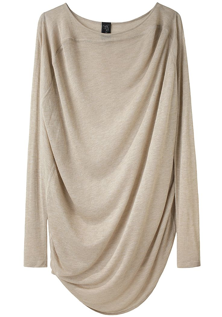 Luma Tunic by Zero + Maria Cornejo: love the cozy drape and the almondy color