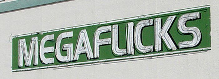 The sign for the late MegaFlicks video-rental store in a Florida mini mall was passed around by designers online as a perfect example of why kerning, the spacing between letters, is so important. It stayed up until the streaming era killed video stores several years ago and a bank took over the location.