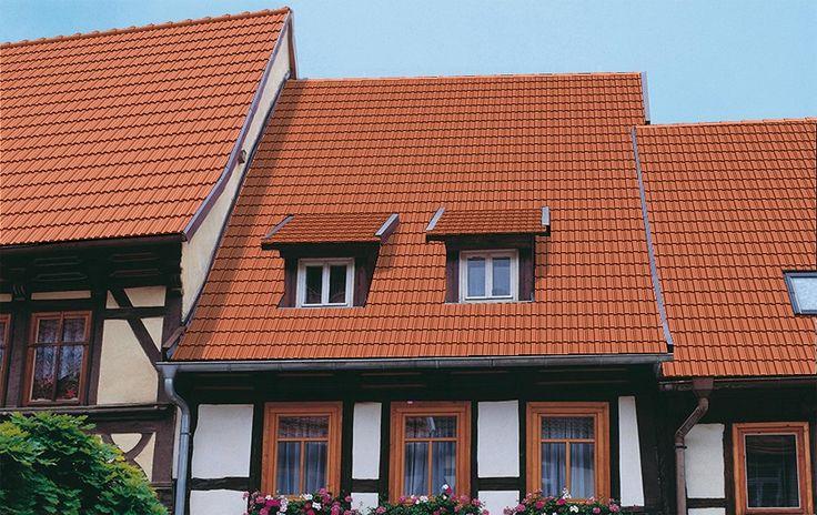 Dachziegel BRASS, Serie Granat 13, Oberfläche Matt, Farbe Naturrot