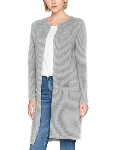 SELECTED FEMME Sflaua Ls Knit Noos Cardigan Donna Grigio (Light Grey  Melange Light Grey Melange c373c8ec1dd7