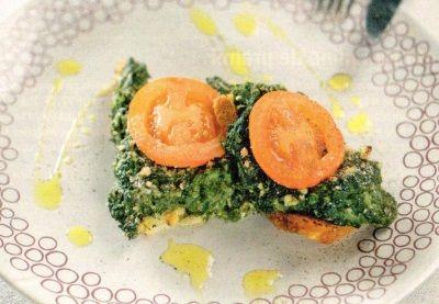Sandvis cu spanac la cuptor si paine prajita - Reţete culinare de la A la Z