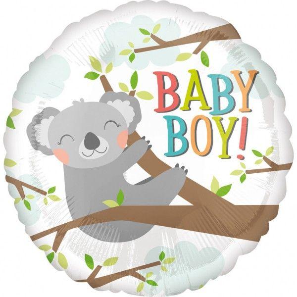 Poze Balon botez folie metalizata 43cm Baby Koala Boy