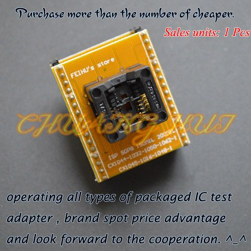 150mil SOP8 to DIP8 Adapter for SUPERPRO5000E/5000 CX1044 CX1032 CX1050 CX1062-1 adapter module can be used after modification #Affiliate
