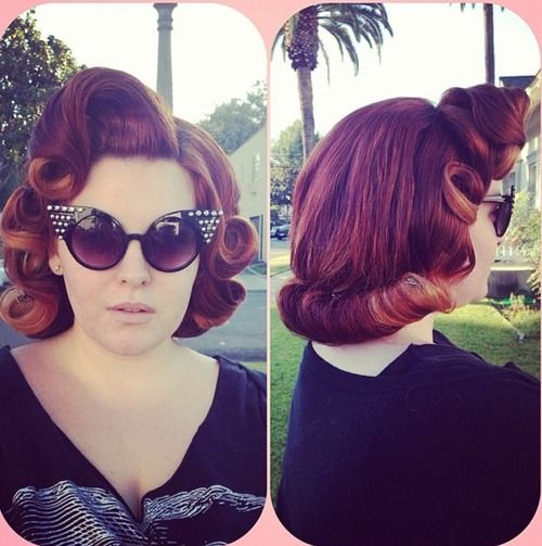 plus size models short hair styles