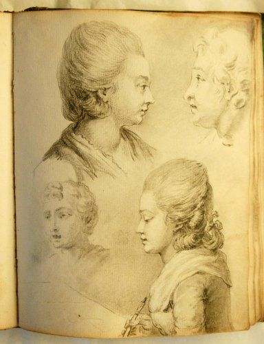 Anonymous sketchbook of the mid-eighteenth century including 36 leaves. This was sold at Anticstore.