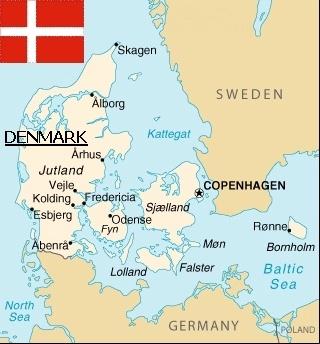 map of denmark kort der viser danmark
