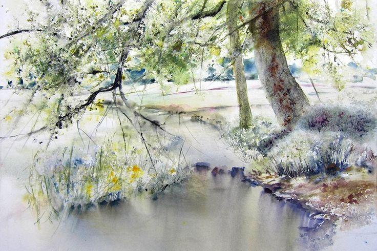 Акварельные пейзажи Reine-Marie Pinchon-5