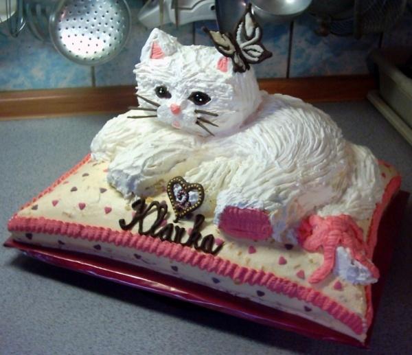 emily wants a kitten birthday cake this year cake