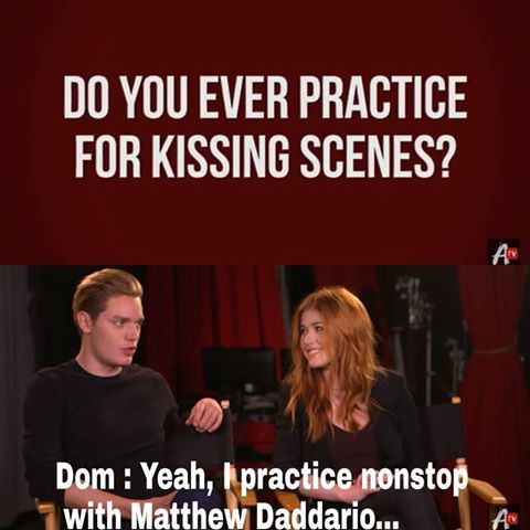 Dominic Sherwood and Katherine McNamara interviewed by AwesomenessTV | repinned by claire_valdez
