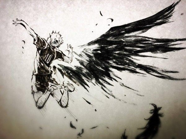 Haikyuu les as du volley les ailes d'Hinata #Dessin niuya