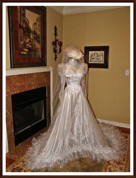 25 best my vintage wedding dress images on pinterest for Custom made wedding dresses dallas
