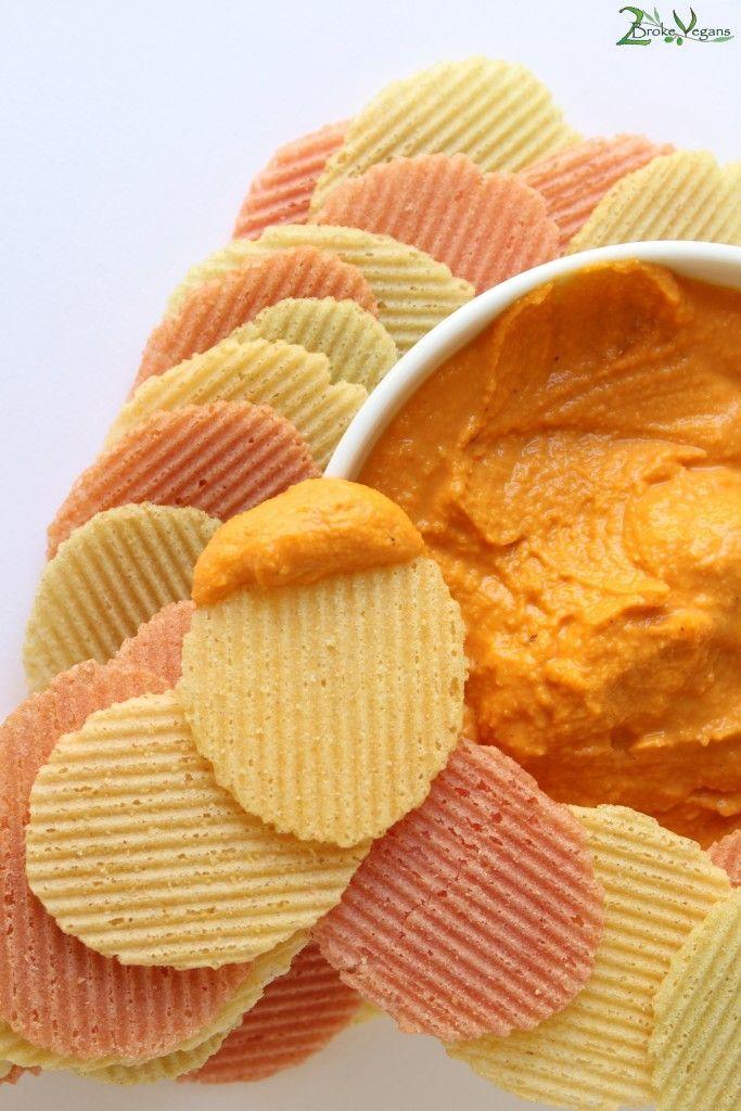 Budget Vegan Nacho Cheese Recipe: http://2brokevegans.com/budget-vegan-nacho-cheese/