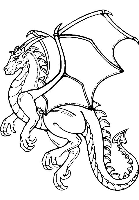 Dragon Coloring Pages: The article features both realistic and cartoon forms of dragons like flying dragons, dragons with knights and fire breathing dragons.
